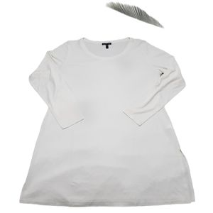 Eileen Fisher Long Sleeve 100% Silk Tunic Blouse